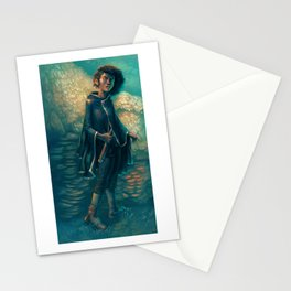 The Girl in Black Stationery Cards
