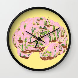 Brain Terrarium Wall Clock