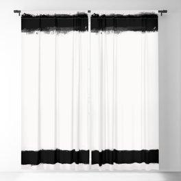 Square Strokes Black on White Blackout Curtain