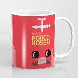 Porco Rosso - Hayao Miyazaki - Alternative, animated movie, Crimson Pig, studio ghibli, Poster Coffee Mug