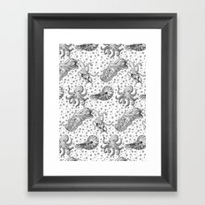 Cephalopods  Framed Art Print