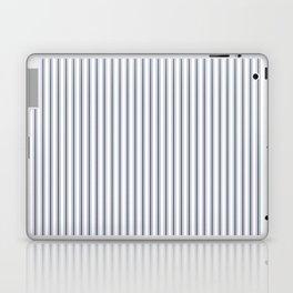 Dark Sargasso Blue Mattress Ticking Narrow Striped Pattern - Fall Fashion 2018 Laptop & iPad Skin