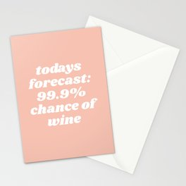 chance of wine Stationery Cards