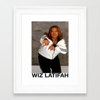 wiz khalifa Framed Art Prints featuring Wiz Latifah by 6triangles