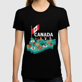 Canada Proud Canadian Flag Gift T-shirt