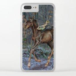little pegasus Clear iPhone Case