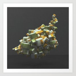 20160224 | NOTHING BUT CUBES Art Print