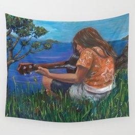 Playing ukulele Wall Tapestry