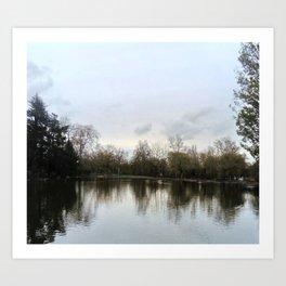 Nature, landscape and twilight 9 Art Print