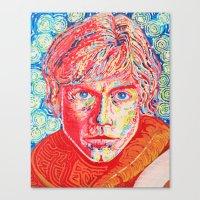 luke hemmings Canvas Prints featuring Luke by dancingcatartwork23