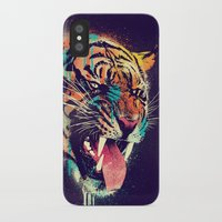 animals iPhone & iPod Cases featuring FEROCIOUS TIGER by dzeri29