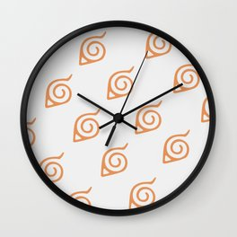 Konoha Logo Pattern Wall Clock