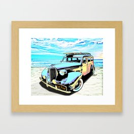 Plymouth Woody Early in the Morning by the Sea Framed Art Print