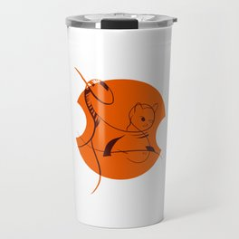 Cat in Lines Travel Mug