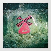 moulin rouge Canvas Prints featuring Moulin by Camile O'Briant
