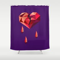 vector Shower Curtains featuring Heart vector by Tony Vazquez