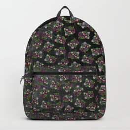 Labrador Retriever - Black Lab - Day of the Dead Sugar Skull Dog Backpack