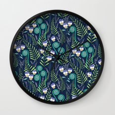 Love-in-idelness - violet Wall Clock