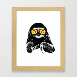 Pride Sloth Intersex Flag Sunglasses Framed Art Print