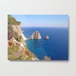 Zante Coastline Metal Print