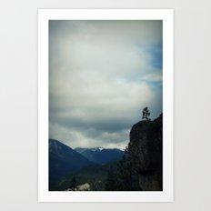 Dirtyface Mountain Art Print