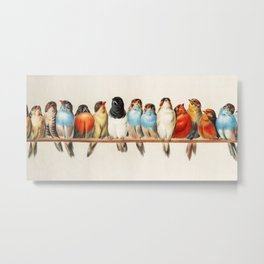 A Perch of Birds by Hector Giacomelli Metal Print