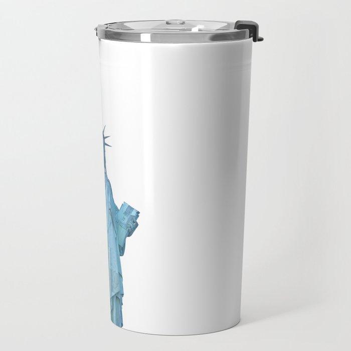 Statue of Liberty with Tennis Racquet Travel Mug