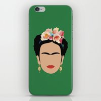 frida iPhone & iPod Skins featuring frida by Live It Up