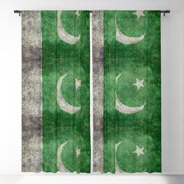 Pakistani flag, vintage retro style Blackout Curtain