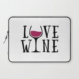 Love Wine Quote Laptop Sleeve