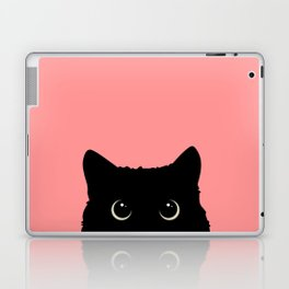 Sneaky black cat Laptop & iPad Skin