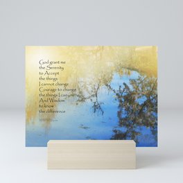 Serenity Prayer Pond Reflections Mini Art Print