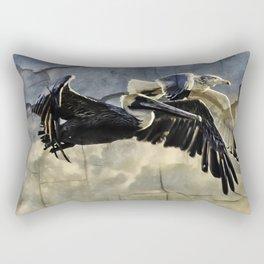 A Race To Heaven Rectangular Pillow
