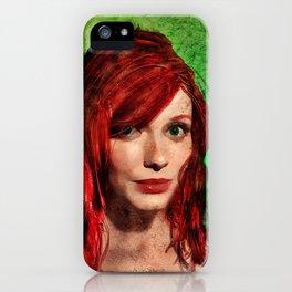 Christina Hendricks Painting iPhone Case