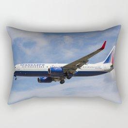 Transaero Airlines Boeing 737 Rectangular Pillow