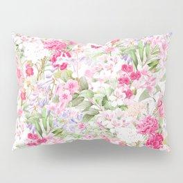 Vintage & Shabby Chic - Pastel Spring Flower Medow Pillow Sham