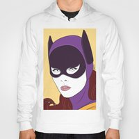 60s Hoodies featuring 60s Batgirl by Patrick Scullin