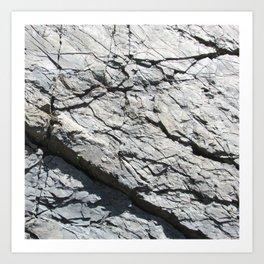 Strates géologiques / Geological strata Art Print