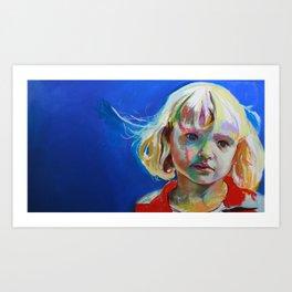Thoughtful girl. Art Print
