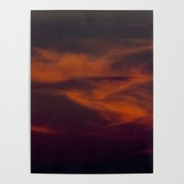 storm annoucement at sunset Poster