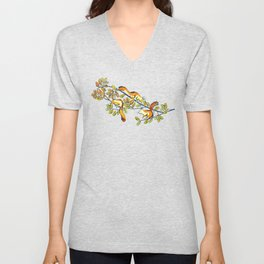 Oak Tree with Squirrels in Fall Unisex V-Neck