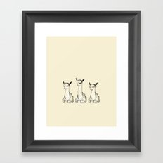 three Framed Art Print