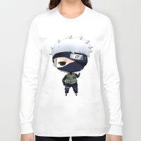 kakashi Long Sleeve T-shirts featuring Kakashi Chibi by Lyre Aloise