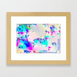 soft glitch Framed Art Print