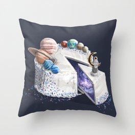 Space Cake Throw Pillow