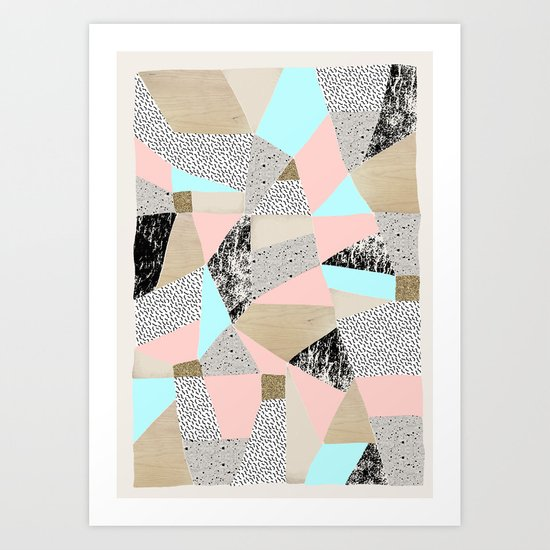 Geo Lights Art Print