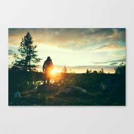 End of Arctic Summer Canvas Print