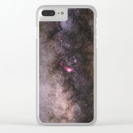 Navigate in the Milky Way Clear iPhone Case