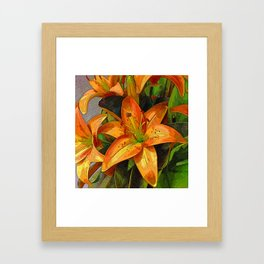 Hot and Spicy Framed Art Print
