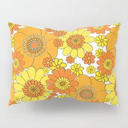 Pushing daisies orange and yellow Pillow Sham